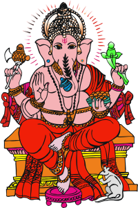 Colorful Ganesha Image for free download