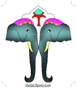 2 Elephant Face Clipart