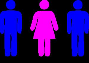 2 Men 1 Woman Icon Image