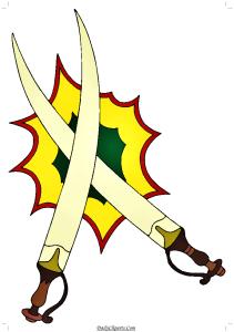 2 Swords Clipart Photo