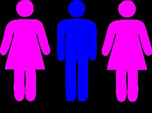 2 Women 1 Man Clipart Icon Picture