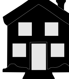 4 Windows Home Black Icon Image