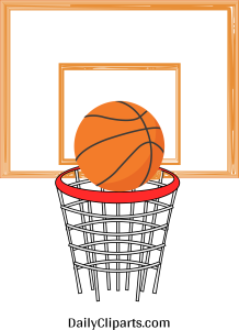 BasketBall Goal ClipArt Icon Image