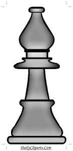 Bishop from Chess game clipart Picture