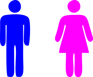 Blue Man Pink Woman Icon Photo