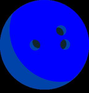 Bowling Ball Blue Colour Clipart Image