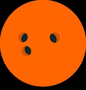 Bowling Ball Orange Colour Clipart Image