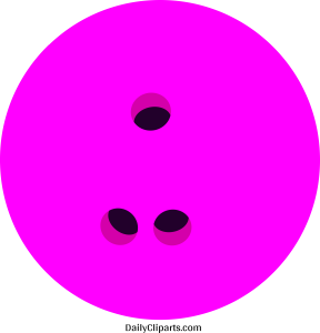 Bowling Ball Pink Colour Clipart Image