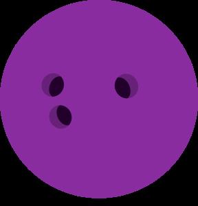 Bowling Ball Purple Colour Clipart Image