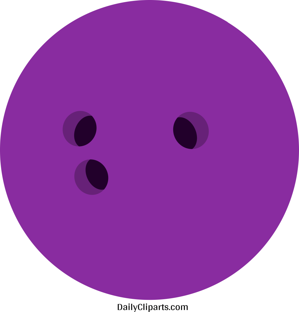 Bowling purple. Ball colour clipart image