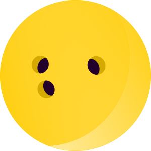 Bowling Ball Yellow Colour Clipart Image
