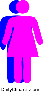 Couple Standing Facing each Other Image Icon