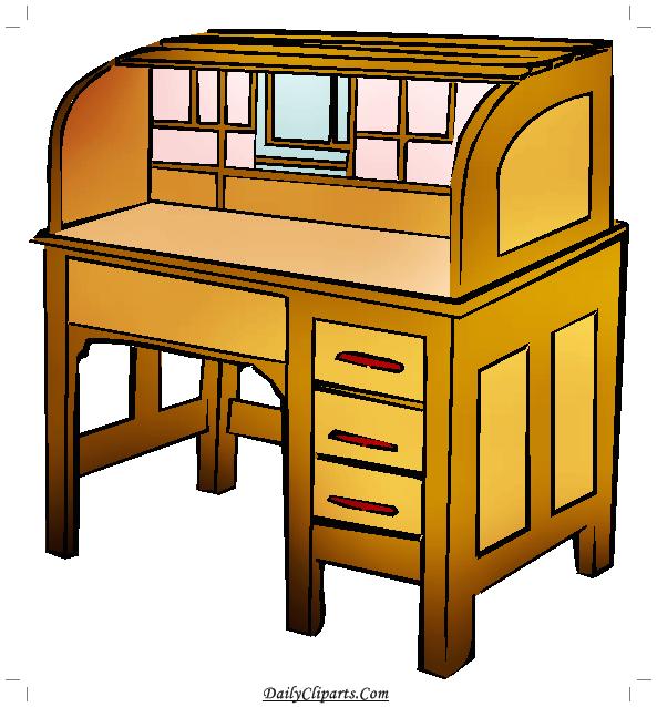 Desk for Computer Clipart