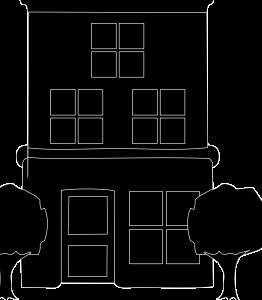Double Storey House Black Icon Image