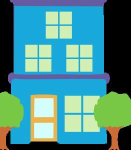 Double Storey House Icon Image