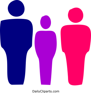 Father Teenager Son or Daughter Mother Color Icon