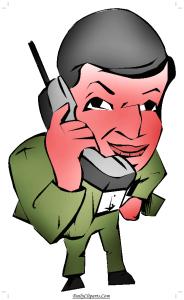 Gentleman talking on Wireless Phone