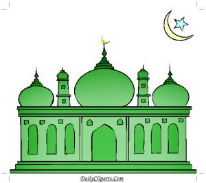 Green Mosque Clipart