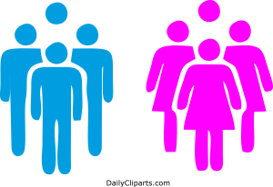 Group of Men and Women Standing Together Icon