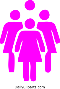 Group of Women Standing Together Icon