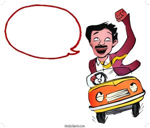 Happy Men Driving Car