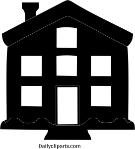 House Home Black White Icon Image