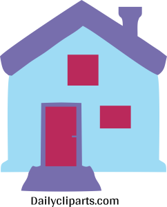 House with Chimney Icon Image