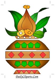 Kalash Symbol for Wedding Card