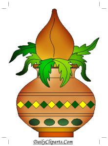 Kalash with Nariyal and Leaves