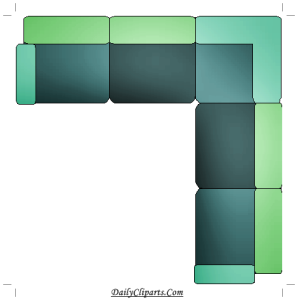 L shape wide sofa image
