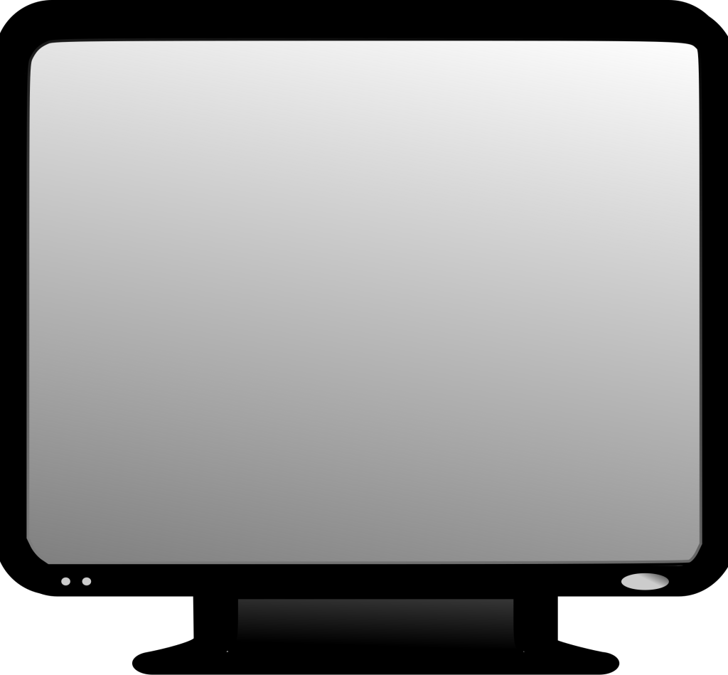 Led Lcd Tv Monitor Screen Clipart Icon