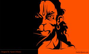 Lord Hanuman Angry Hanuman by Karan Acharya