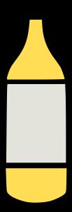 Mango Juice Drink Bottle Clipart Icon