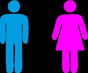 Men Women Toilet Sign Clipart Icon