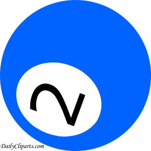 Number 2 Pool Ball Blue Color Clipart Icon