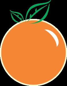 Orange Fruit Design for Graphical use