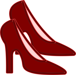Pair of Heel Sandals Clipart Icon