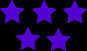 Purple Color 5 Stars Image