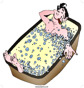 Rich Man Bathing in Battube Image Picture