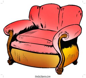Single Sofa Clipart Icon
