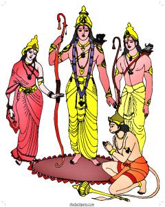 Sita Ram Lakshman Hanuman Clipart