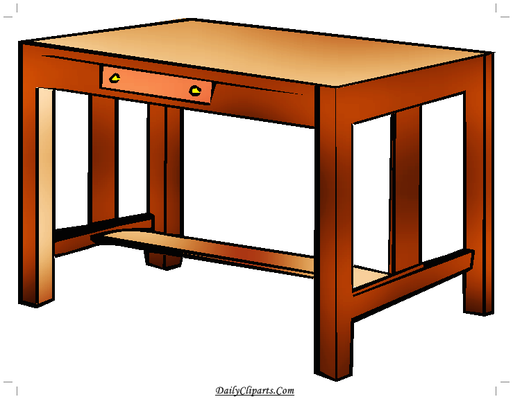 Study Table Clipart Image