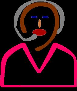 Telemarkerter Girl Face Clipart Image