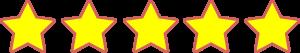 Yellow 5 star rating icon