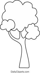 Black Line Art Tree Icon