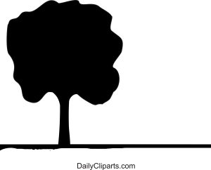 Black Tree Clipart Image