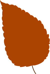 Brown Autumn Leaf Clipart Image