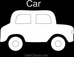 Car Black White Line Art Image