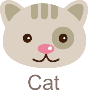 Cat Face Clipart Icon Free