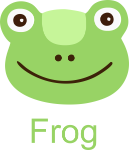 Frog Face Clipart Icon printable free use